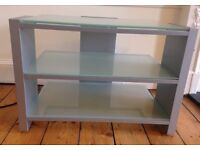 Glass TV unit, 3 shelves, good condition