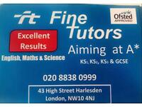 English, Maths or Science tutor, KS1-3 and GCSE, flexible working hours suiting your availability