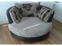 Brown DFS Cuddle Chair