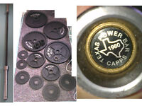 Texas Power Bar and York Olympic Weights