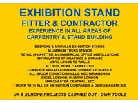 Exhibition Stand Fitter & Shopfitter - Bespoke Stands & Modular Stands/Truss - Own Tools