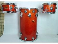 Trixon Cocktail Elite Drum Set Orange Sparkle - Drums only