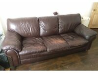 3 seater leater sofa - MUST GO BY 26th JULY