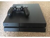 Playstation 4 500GB Console and official Dualshock 4 controller