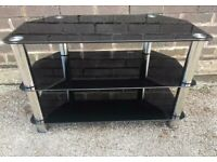 3-Tier Tempered Glass TV Unit