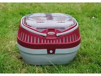 Carrier for small pets such as hamsters, gerbils, birds, reptiles etc