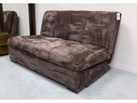 Divulge Sofabed in Brown Fabric Ex-display in Excellent Condition