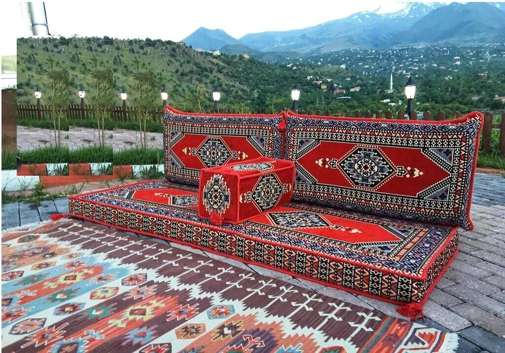 4 pcs Turkish Ottoman Cushion pillows Lounge Couch Sofa Corner Cover Set Palace 2