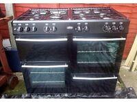 Belling 100cm Range cooker + Extractor hood