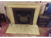 Fireplace - Cast iron with stone surround