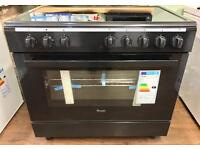 BRAND NEW VITRO CERAMIC ELECTRIC 90CM RANGE COOKER IN BLACK BARGAIN !!