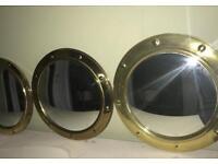 3 x Vintage Porthole Mirrors