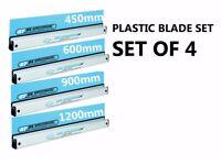 4x OX Speedskim ST RANGE Semi Flexible Plastering Rule 450, 600, 900, 1200mm