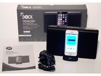 GOJI PORTABLE DOCK FOR IPHONE / IPOD WITH LIGHTNING CONNECTOR - MAINS OR BATTERY