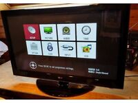 """LG32"""" high definition tv with freeview (i can deliver)"""