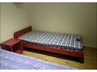One Single bed with mattress rarely used