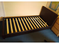 Argos leather single bed frame in excellent condition