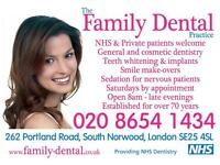 Dental Nurse - Full and Part time positions available South Norwood SE25 Croydon border