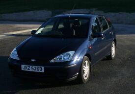 2003 Blue 5 door Ford Focus