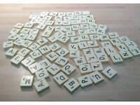 Vintage Scrabble Letters x 98