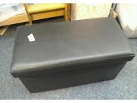 Faux leather Ottoman #23881 £20