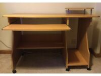 Computer Desk & Chair (Approximate Size of Desk - L120 x W55 xH86cm) £35 ONO condition.
