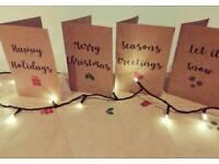 Kraft Christmas Cards Set of 12