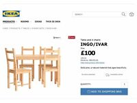 Ikea wooden dining table - collection Saturday £15