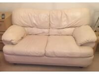 Used Cream Leather Sofas ( 2 Seater & 3 Seater)