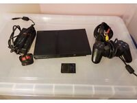 Slim Playstation 2 + leads + memory card + official Sony pad + choice of game PS2 working perfectly