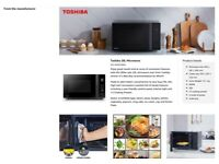 Toshiba Microwave Oven 20L MV-AM20T(BK) 800W - NEW still conditioned never been used.