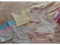 Bundle of Girls 6-9 month clothing, approx 27 items.