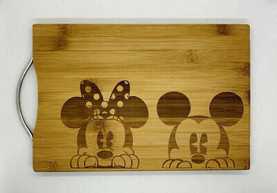 Mickey and minnie laser engraved cuttingboard Christmas gift kitchen pop