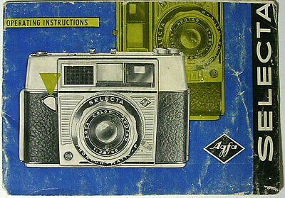 Used, Vintage Agfa Selecta Camera Operating Instructions Manual for sale  Shipping to India