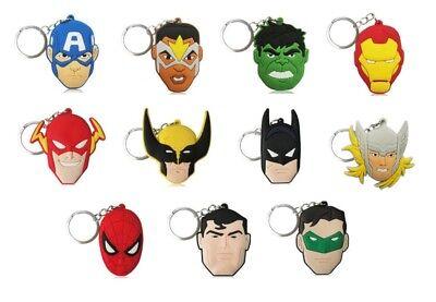 Superhero Key Chains Party Favors for Children Party Theme Supplies 11-22 Pieces