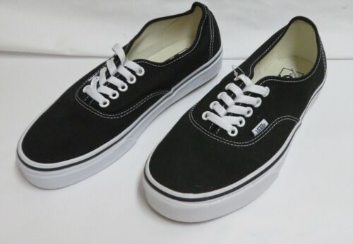 Vans  Era Black/True White Canvas Skate Shoes M-8.0/W-9.5 NWOB