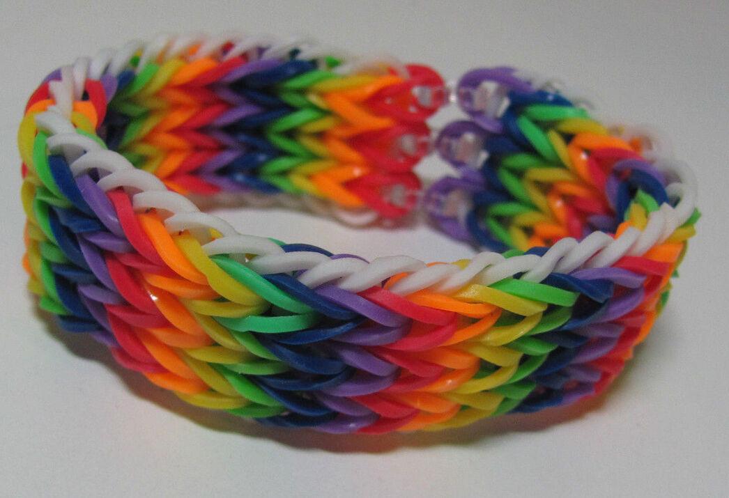 Rainbow Loom Patterns Diamond Fishtail Rainbow Loom Bracelet