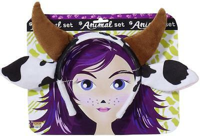 Cow Kit Farm Animal Horn Headband Fancy Dress Up Halloween Costume Accessory - Cow Costume Ears