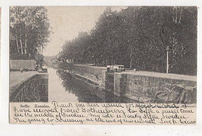 Seffle Kanalen Sweden 1905 Postcard 617b