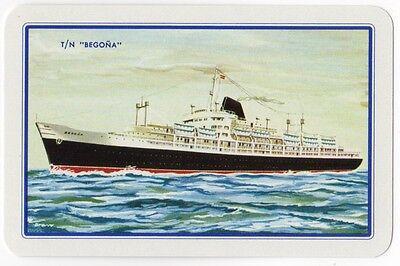 Playing Cards 1 Swap Card Vintage SPANISH LINE Cruise Ship T/N BEGONA Shipping 1