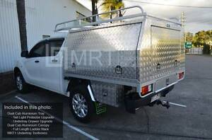 2.5mm ALUMINUM CHECKER PLATED UTE CANOPY AND TRAY COMBO Townsville Townsville City Preview