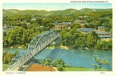 Williamsburg,KY. A 1938 Bird's Eye View of Williamsburg