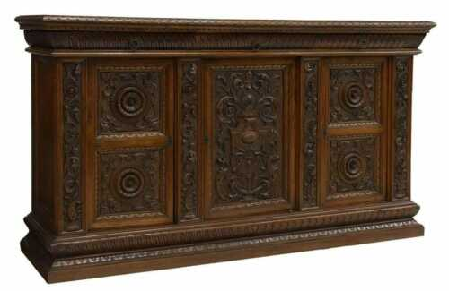 Large Antique Buffet / Sideboard, Highly Carved Renaissance Revival Cabinet!!