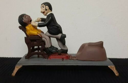 Crescent Dental Manufacturing Cast Iron Dentist Mechanical Bank 1950