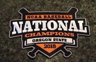 State Baseball Jersey - Oregon State Beavers OSU Baseball Jersey National Champions Patch 2018 CWS NCAA