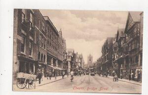 Chester Bridge Street Vintage Postcard 418a