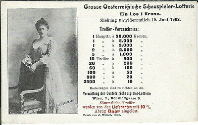 Az 043   1902 Austrian Lottery Advertising Postcard Austria Osterreiche Lotterie