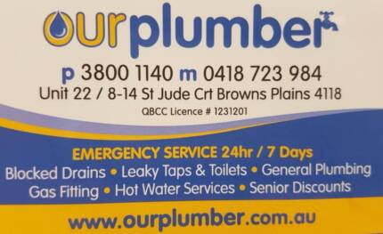 PROMPT RESPONSE TO YOUR PLUMBING NEEDS - PHONE TODAY