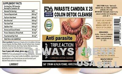 200 Parasite Cleanse DETOX Liver Colon Yeast Blood KILL COLON CLEANSER FAST &TEA 9