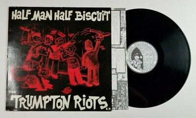 HALF MAN HALF BISCUIT The Trumpton Riots EP Probe TRUMX1 UK 1986 VG+ INNER (Half Man Half Biscuit The Trumpton Riots)